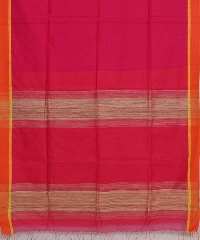 Bengal Handwoven Pink Orange Saree