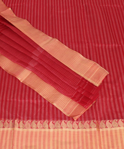 Red Handwoven Bengal Tant Saree