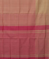 Mangalgiri Handloom Beige Pink Cotton Saree