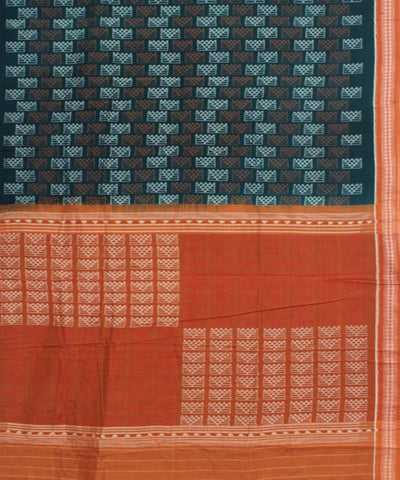 Blue Orange Handloom Sambalpuri Cotton Saree