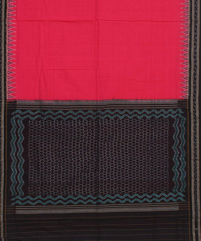 Sambalpuri Handloom Cotton Bright Pink Saree