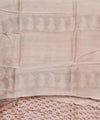 Beige Red Hand Printed Chanderi Sico Saree