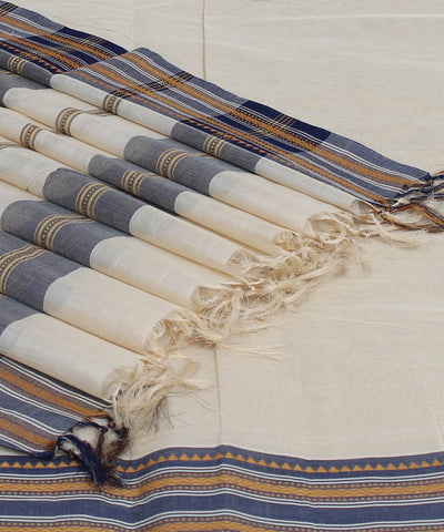 Handloom Cream Kanchi Cotton Saree
