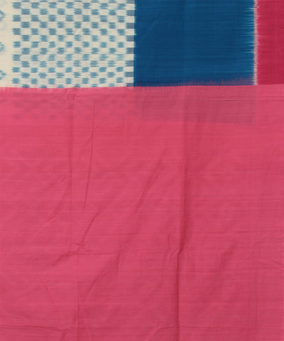 Pochampally Blue Pink Handloom Cotton Saree