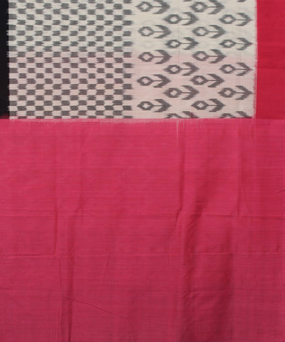 Off White Pochampally Handloom Cotton Saree