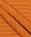 Orange Brown Ikat Cotton Handloom Fabric