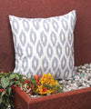 Grey Honeycomb Handwoven Ikat Cushion Cover