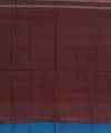 Blue Maroon Sambalpuri Cotton Saree