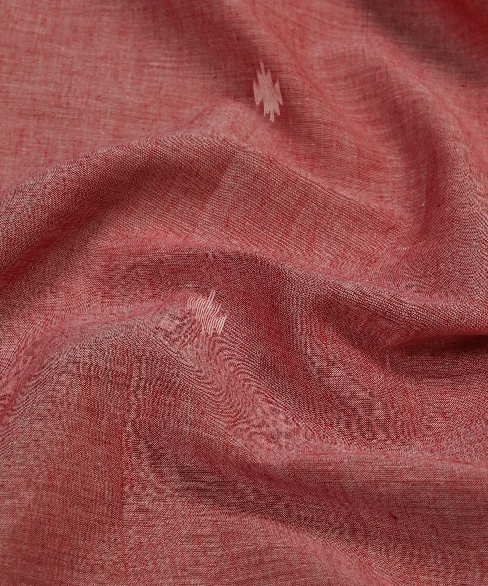 light pink jamdani handloom cotton fabric