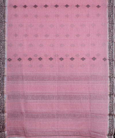 Light Pink Bengal Handwoven Soft Cotton Saree