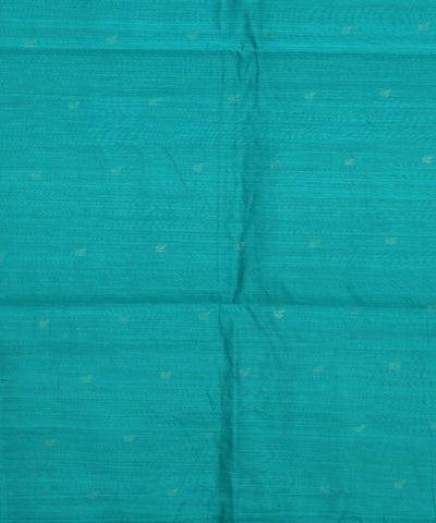 Teal Blue Handwoven Chanderi Sico Saree