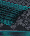 Green Black Sambalpuri Cotton Ikat Saree