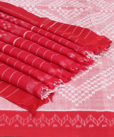 Pink Maroon Sambalpuri Handloom Cotton Saree