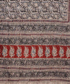 Kalamkari Hand Block Blue Print Cotton Saree