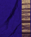 Sky Blue and Purple Handwoven Silk Saree