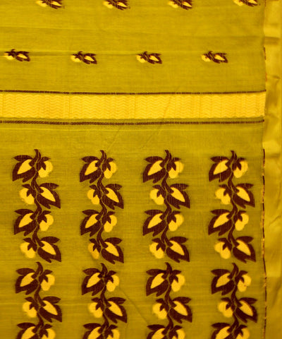 Parrot Green Handwoven Cotton Tangail Saree