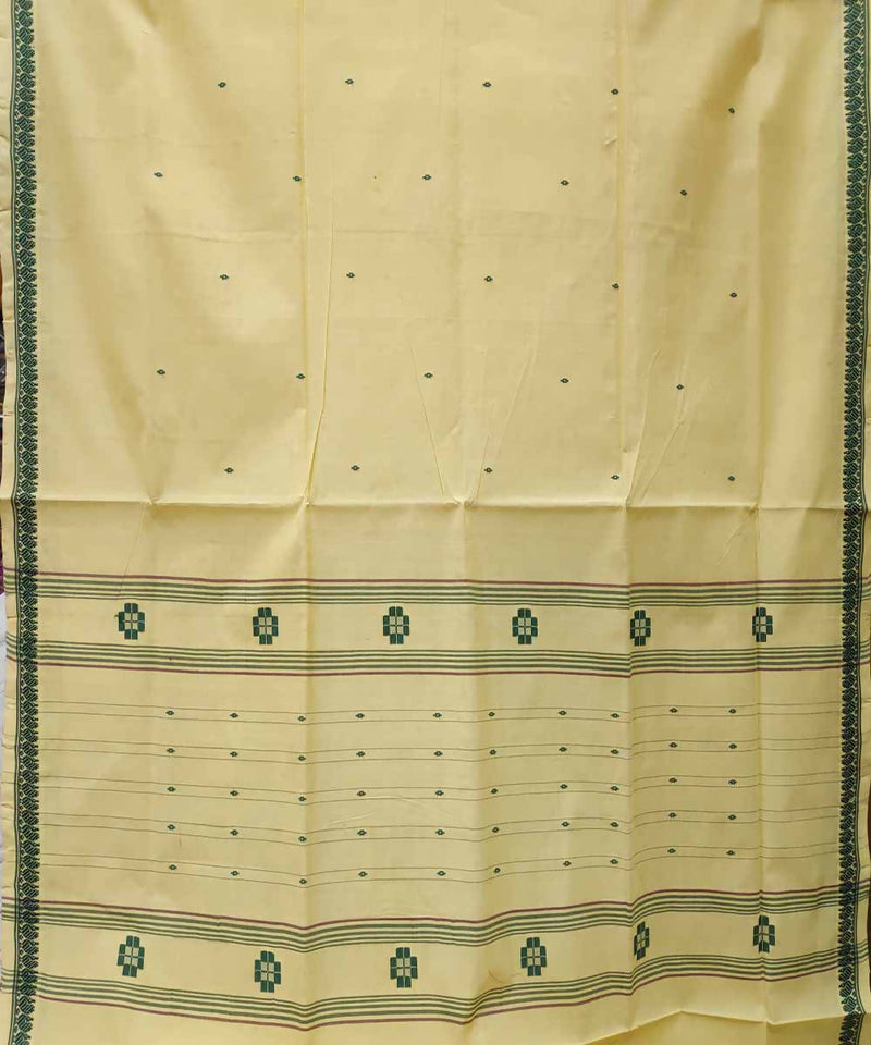 Arylide yellow handloom cotton venkatagiri saree