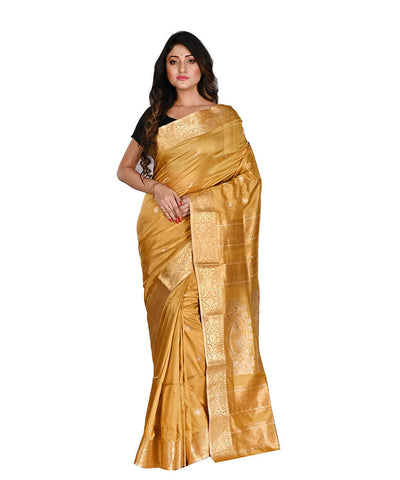 Bengal Handloom Gold Silk Baluchari Saree