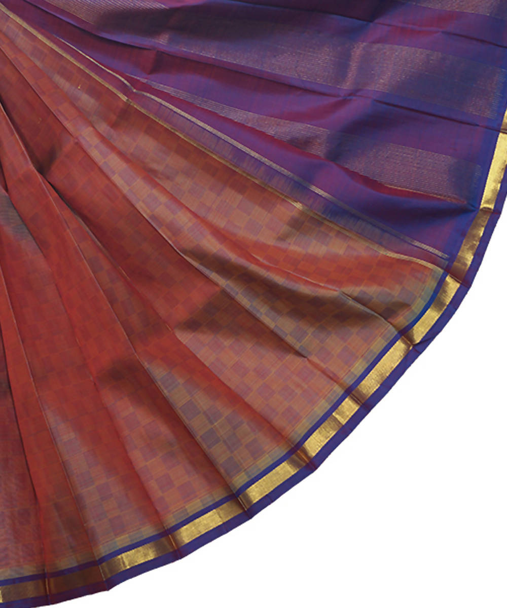 Double Shade Handloom Thirubuvanam Silk Saree