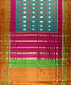 Leaf Motifs Handloom Ikat Rajkot Silk Saree In Multi Color