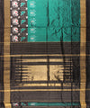 Peacock Green Handwoven Ikat Rajkot Silk Saree