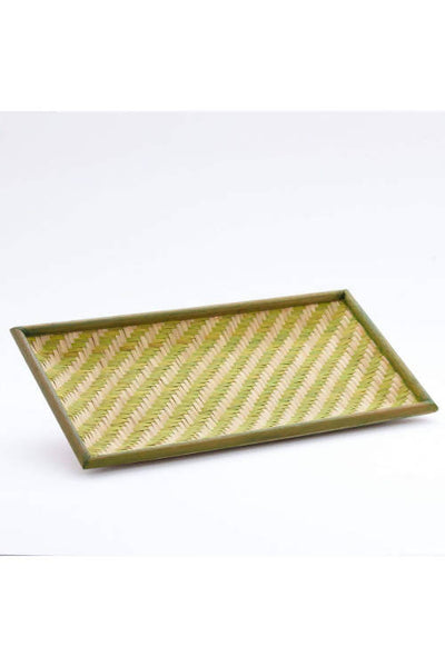 Green Handmade Bamboo Cereal Tray (Small)