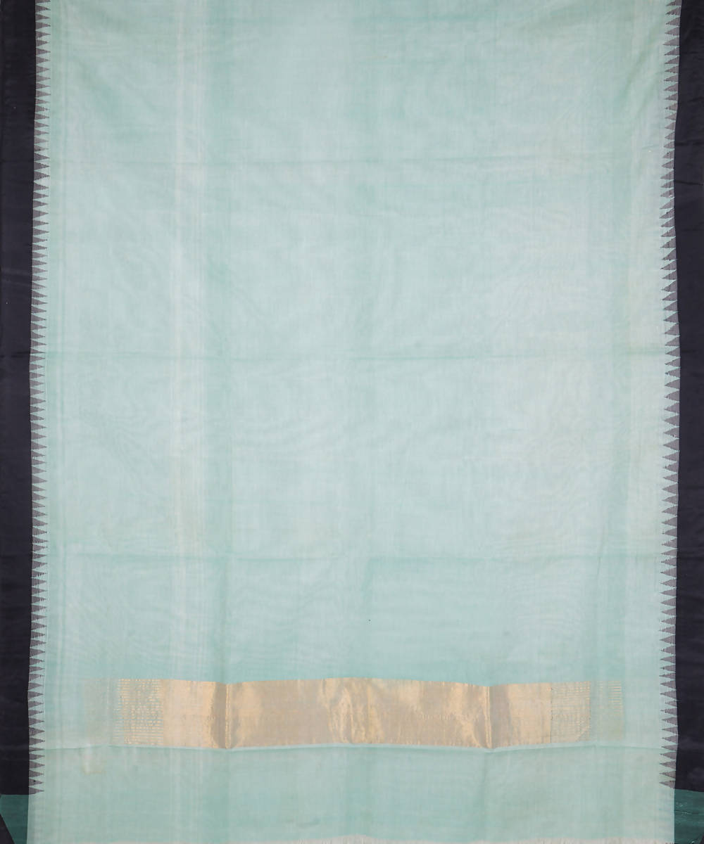Handloom Light Green Kuppadam Cotton Saree