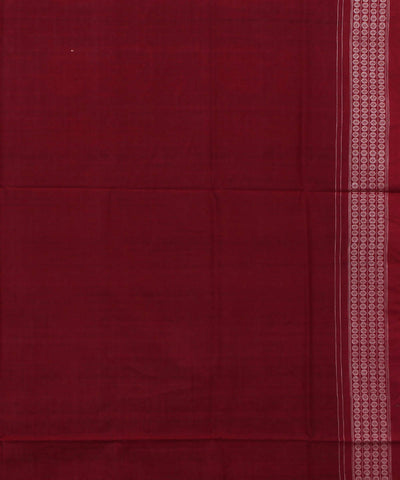 Black Maroon Sambalpuri Handloom Cotton Saree