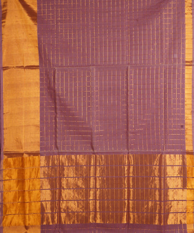 Mauve Handloom Venkatagiri Cotton Saree