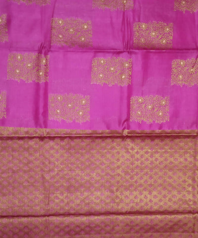 Banarasi Fuschia Pink Handloom Silk Cotton Saree