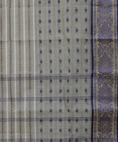 Handloom Beige Bengal Cotton Saree