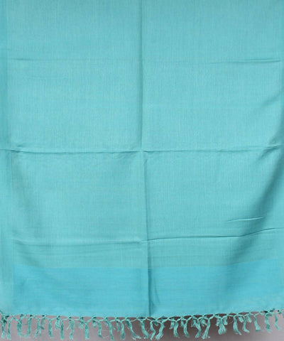 Light Sky Blue Handwoven Cotton Stole
