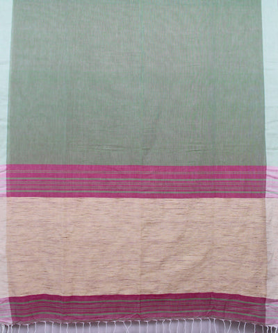 Light Green Bengal Handloom Cotton Saree