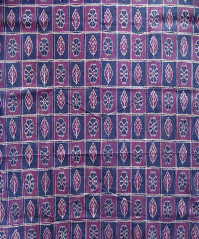 Exclusive Cobalt And Dark Mugenta Traditional Ikat Tie And Dye Double Bed Cover