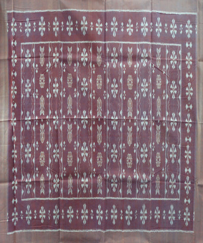 Byzantium Chestnut Ikat Double Bed Cover