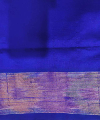 Red and royal blue Handwoven Venkatagiri Cotton silk saree