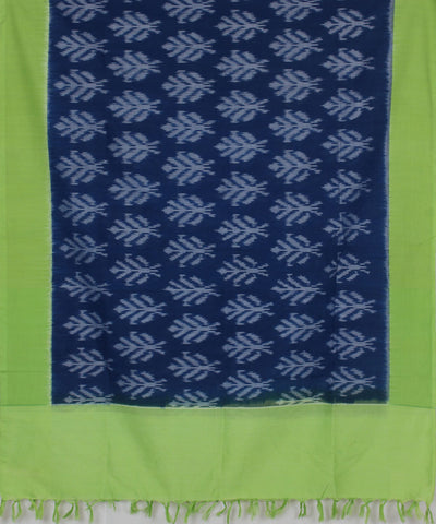 Handloom Blue Ikat Cotton Dupatta