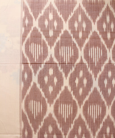 Brown and Cream Handloom Double Cot Bed Sheet