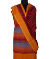 Multicolor Handloom Ikat Cotton Dress Material