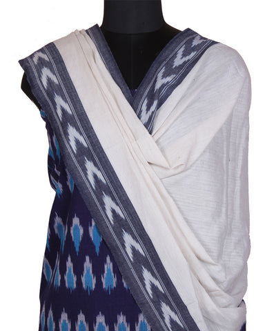 Purple blue handloom pochampally cotton dress material