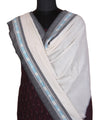 Wine Handloom Pochampally Cotton Suit
