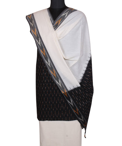 Black Handloom Pochampally Cotton Suit
