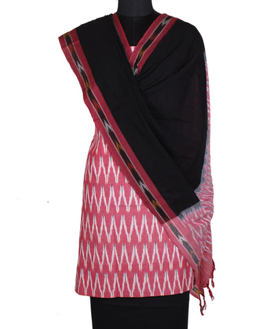 Light Pink Handloom Ikat Cotton Suit