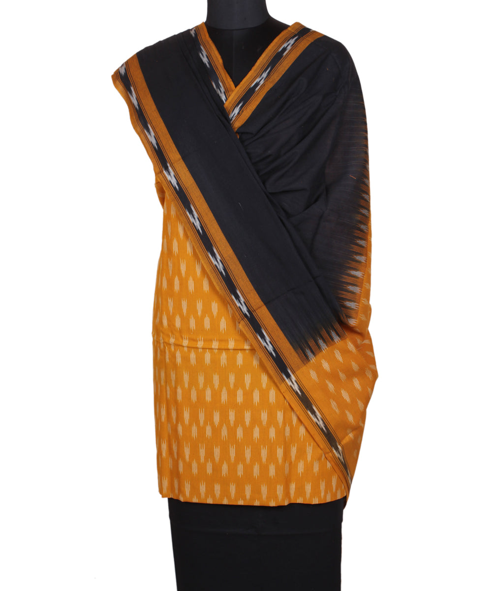 Handwoven Yellow Pochampally Cotton Suit