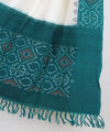 Turquoised Blue Handwoven Ikat Cotton Dupatta