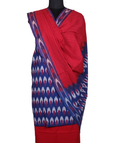 Royal Blue Handloom Ikat Cotton Suit