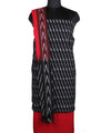 Black Red Handwoven Pochampally Cotton Suit
