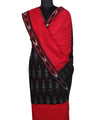 Handloom Pochampally Black Red Ikat Cotton Suit
