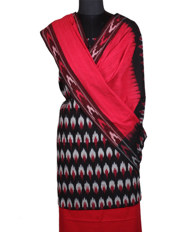 Handloom Black Ikat Cotton Suit