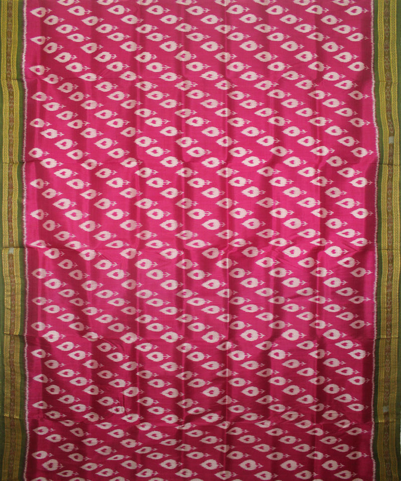 Pink Green Handloom Khandua Silk Saree